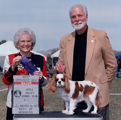 Chuck winning at the Apple Valley Kennel Club dog show